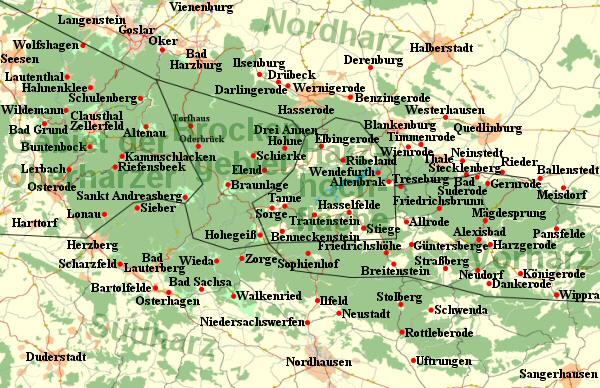 Wandern Wandertouren Im Harz Urlaub Wanderkarten Oberharz